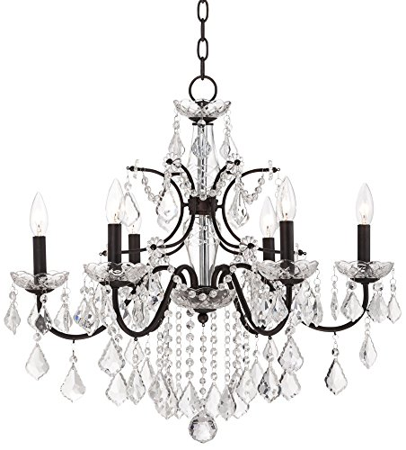 "Beverly 26"" Wide Bronze Frame Clear Crystal Chandelier for sale  Delivered anywhere in USA"