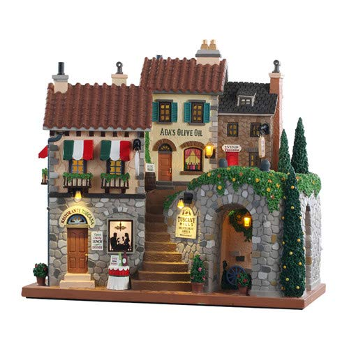 Lemax 10 Inch Tuscany Hills Facade 85320 (Lemax Caddington Christmas Village)