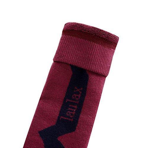 nbsp;paires Haute Pour Ski Homme Burgandy 3 Qualité Black Et Laulax Cadeau De Blue Chaussettes Femme Coffret xXSwzg