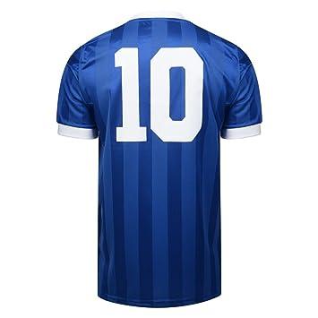 Oficial Retro Argentina Mundial de Fútbol de 1986 Final de distancia No10 camiseta 100% poliéster