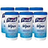 PURELL Hand Sanitizing Wipes, Clean Refreshing Scent, 40 Count Non-Alcohol Sanitizing Wipes Canisters (Pack of 6) – 9120-06-CMR