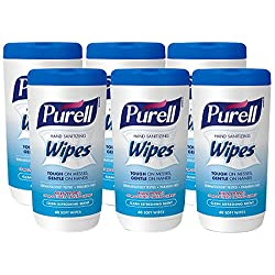 PURELL Hand Sanitizing Wipes Clean Refreshing Scent 40 Count Non-Alcohol Sanitizing Wipes Canisters