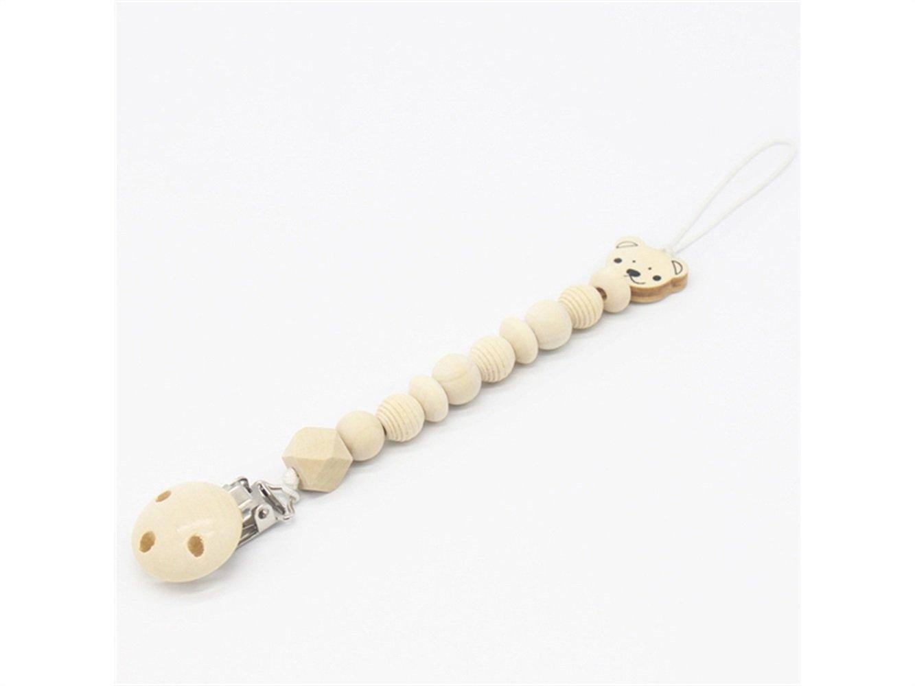 Precioso Clip para chupete de dentición de madera bebé ...