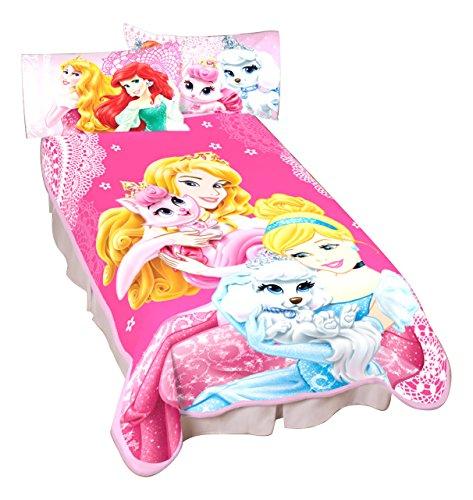 Disney Princesses Palace Pets Wonderful Love Microraschel Blanket, 62 by 90-Inch (Princess Place Pets Disney)