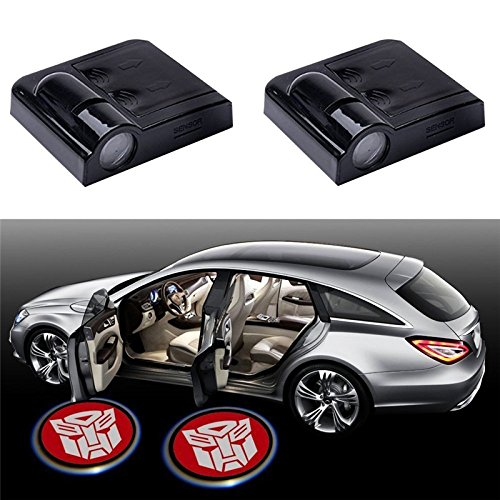 2pcs Wireless Car Door Led Welcome Laser Projector Logo Ghost Shadow Light Car-styling Car Interior Lamp Light ()