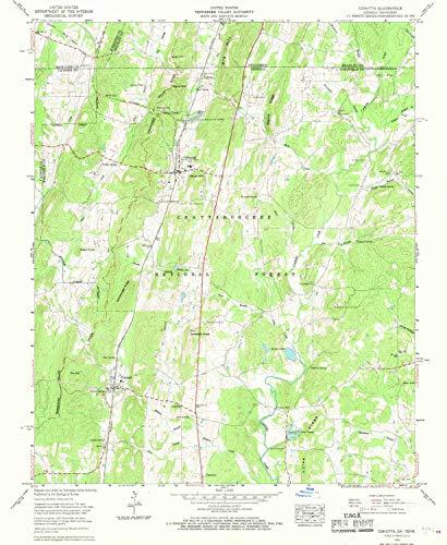 YellowMaps Cohutta GA topo map, 1:24000 Scale, 7.5 X 7.5 Minute, Historical, 1960, Updated 1970, 26.9 x 22 in - Polypropylene (Cohutta Ga)