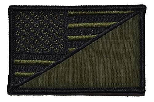 USA Flag/W/Blank Space for Pin-on Device 2.25x3.5 Morale Patch - Multiple Color Options (Olive Drab OD)
