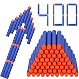 Foam Darts, Hosim 400pcs Nerf Refill Bullet Darts Pack 2.84in/7.2cm Soft Foam [Safe Round Head and Air Hole] Universal Standard for Most Nerf N-strike Elite Series Blasters Kid Toy Gun ( Blue)