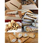 Cream Horn Molds EURICA 5-inch Large Size Cream Horn Forms Pack of 16 Cannoli Tubes Ice Cream Mold Stainless Steel Lady Lock Puff Pastry Cream Horn Mold Waffle Cone Pastry Roll Horn Croissant Mold 14 1. SIZE and MATERIAL: Height: 5 inches/12.7cm; Diameter:1.4 inches/3.6cm. For making Big Horn. Material: 100% High Quality anti rust Stainless Steel with NO coating on both inside and outside, which is non-toxic and healthy. 2. PACKAGE INCLUDE: 16 pcs cream horn molds and 1 cleaning brush. You can make 16 HORNS IN ONE GO! Each product has an individual package, which prevents the cream horn molds from being polluted and abraded, and makes them easy to be separated. 3. EAST TO MAINTAIN AND SPACE SAVING: Smooth surface prevents pastry sticking to it. Almost seamless cream horn molds do not catch dough and make it easy to remove baked goods. Wash with our cleaning brush free for you easily. Dry thoroughly before storage. Only need a small space if you stack the cream horn molds together one by one.
