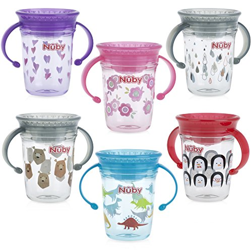 (Nuby Tritan No Spill 2 Handle 360 Degree Printed Wonder Cup)