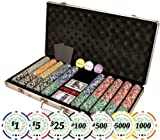 Premium Set of of 750 Casino Del Sol 11.5 gram Poker Chips w/Case, Cards, Dealer Buttons, & 2 Cut Cards