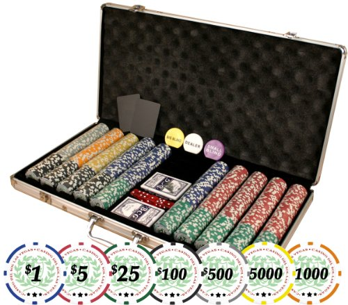 Premium Set of of 750 Casino Del Sol 11.5 gram Poker Chips w/Case, Cards, Dealer Buttons, & 2 Cut Cards by Da Vinci