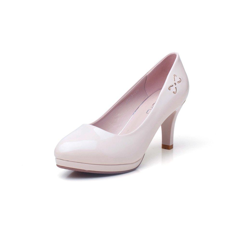XUERUI Runde High High High Heels in Ordnung mit Arbeitsschuhen Schwarze Schuhe mit Hohen Absätzen Frauen Pumps (Größe   EU36 UK3.5 CN35) 294769