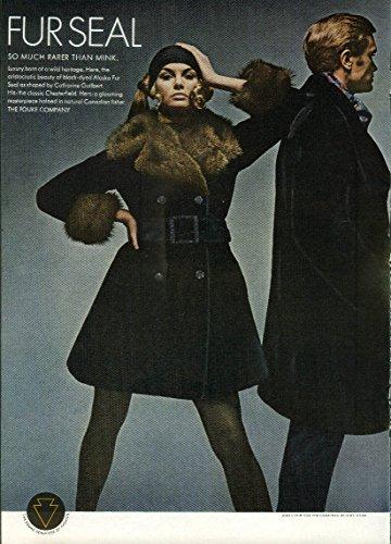 Jean Shrimpton for black-dyed Alaska Fur Seal So Much Rarer than Mink ad ()