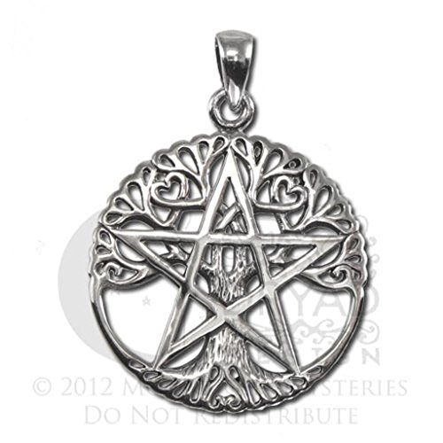 Peter Stone Sterling Silver Tree of Life Pentacle Pendant