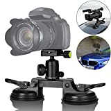 Best Car Camcorders - Heavy Duty DSLR/Mirorrless Camera Suction Cup Car Mount Review