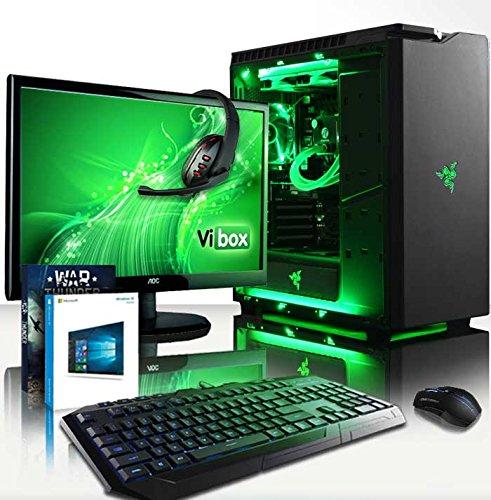 VIBOX Rainmaker Komplett-PC Paket 81 - 4,2GHz Intel Quad-Core Prozessor, GTX 1060, leistungsfähig, Wassergekühlter Desktop Gamer Gaming PC Computer mit Exclusive WarThunder Spiel Gutschein, 22