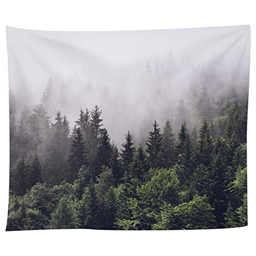 APHER Misty Forest Tapestry Wall Hanging Nature Landscape Tapestry for Bedroom Living Room Dorm Mandala Bohemian Home Decorations (60