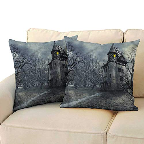 Cushion Cases Pillowcases Halloween Gothic Haunted House Cushion Case for Sofa Bedroom Car 20