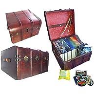 Hogwarts Wooden Steamer Trunk - Patronus Edition