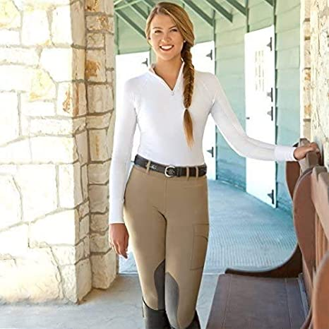 Noble Outfitters The Original Balance Womens Riding Tight Ventilated Dri-Fit Horse Riding Pants for Adult