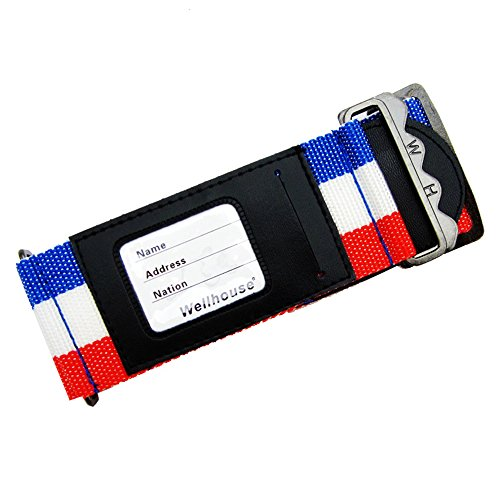 - Wellhouse Luggage Strap Suitcase Belt WH-0050 (French Flag Color)