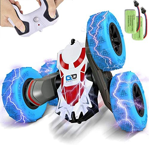 BEZGAR 24 Toy Grade 1:28 Scale Remote Control Car, four wheel drive Double Sided Rotating 360° Flips Electric Toy Stunt Cars RC Vehicle Truck Crawler Toys Christmas Birthday Gifts for Boys Kids Teens and Adults