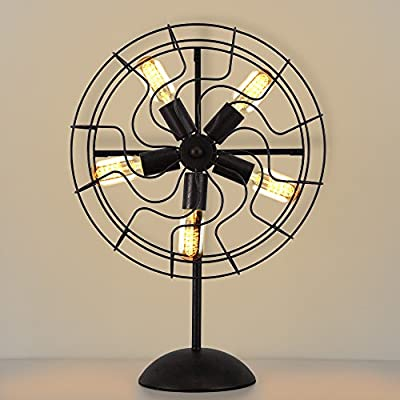 NATSEN Vintage Industrial Metal Table Lamp E26 Table Light T45 Home Decor 5-Lights