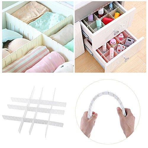 GreenSun(TM) 6Pcs/Set New DIY Grid Drawer Divider Household Necessities Storage Home Organizer Plastic Useful Multi-grid Tidy Tools