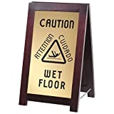 851-WET 2-Sided Wooden WET FLOOR Sign By TableTop King