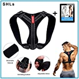 [Upgraded VER.] SHLs Back Posture Corrector for Women and Men | Posture Trainer Back Brace for Clavicle Support & Back Straightener | Shoulder Support for Kyphosis, Scoliosis, Pain Relief & Neck Hump