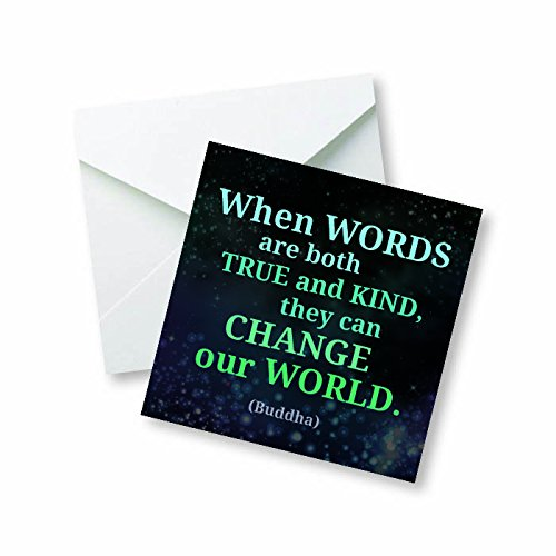 When words are both true and kind, they can change the world. (Buddha) Colored Magnet