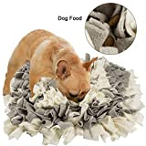 FREESOO Dog Snuffle Mat (17.7″x 17.7″) Gray White Feeding Mat for Dogs Pet Training Play Mats Puzzle Toys for Stress Release