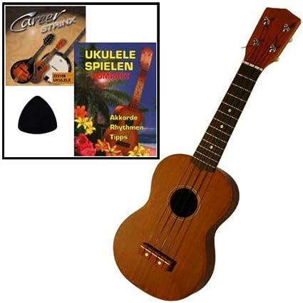 Ukelele de Set para principiantes/Ukelele Soprano/cuerdas/libro/Púa: Amazon.es: Instrumentos musicales