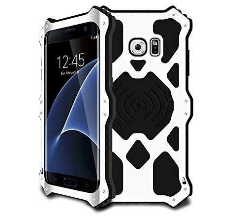 Shockproof Armor Case for Samsung Galaxy S7 Edge (White) - 2