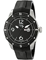 Tissot Mens  T Navigator Black Dial Black Rubber Strap DateDay Automatic Watch T062.430.17.057.00
