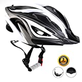 EASECAMP Adjustable Lightweight Bike Helmet for Adult Men and Women with Detachable Liner (Black)