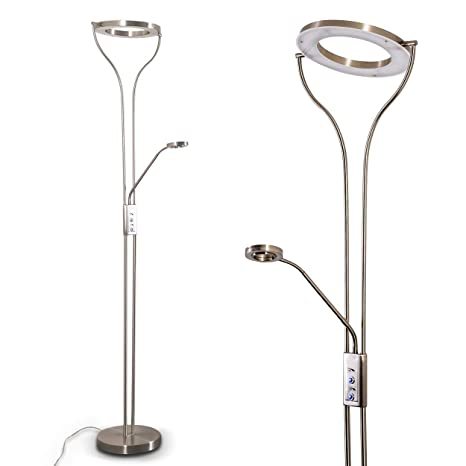 Moderne Stehlampe chrom LED Metall Modern Warmweiß dimmbar