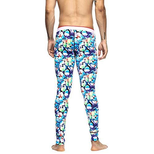 Chaud Garder vêtements Au Homme Respirant Sous Itisme Johns Leggings Bleu Sportifs Hommes En Pour Pantalons Coton Long Souple Hiver Automne 46SxaBqg