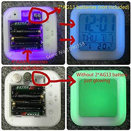 Amazon.com : HOKUGA: Digital Alarm Clock Kids reloj despertador Cartoon Minecraft TNT Colorful Glowing wekker Electronic Desk LED Clock Wake up Light ...