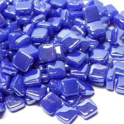 Pearlised Glass Micro Mosaic Craft Tile - Brilliant Blue Hobby Island