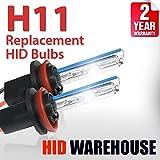 8000k hid bulbs - HID-Warehouse AC HID Xenon Replacement Bulbs - H11 8000K - Medium Blue (1 Pair) - 2 Year Warranty
