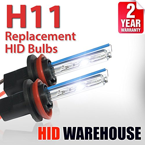 HID-Warehouse AC HID Xenon Replacement Bulbs - H11 5000K - Bright White (1 Pair) - 2 Year Warranty (Replacement Chevrolet 2007 Malibu)