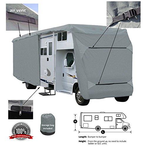- SavvyCraft Class C RV Motorhome Camper Cover Fits 30' 31' 32'L Zipper Access ...