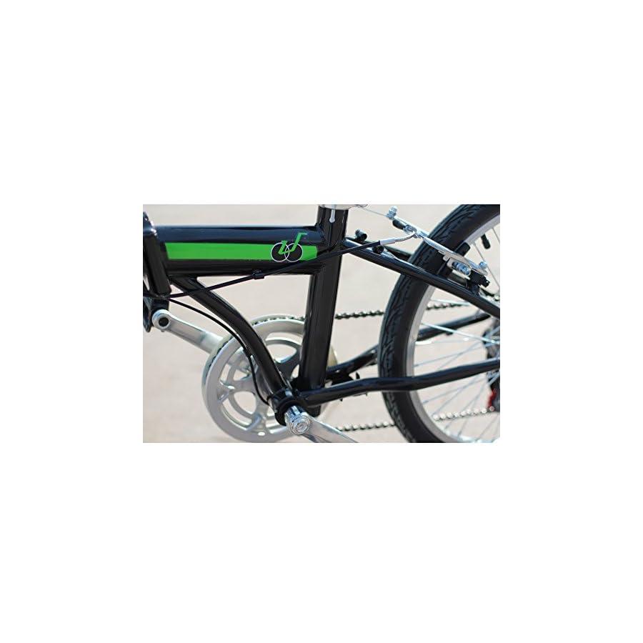 Black IDS Home Unyousual U Arc Folding City Bike Bicycle 6 Speed Steel Frame Shimano Gear Wanda Tire