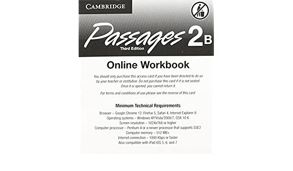 Passages Level 2 Online Workbook B Activation Code Card
