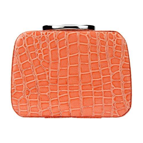 Adrienne Jewelry Set (Makalon Colorful Fashion Makeup Storage Bag Case Jewelry Box Leather Travel Cosmetic Organizer (Orange))