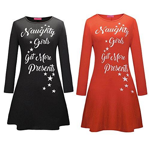 Bestfort Neue Womens Kurzes Kleid Weihnachts Bäume Weihnachten ...