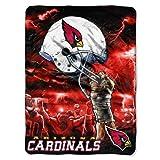 The Northwest Company NFL Arizona Cardinals 60-Inch-by-80-Inch Plush Rachel Blanket, Sky Helmet Design