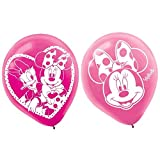 American Greetings Minnie Mouse Bowtique Baloons Party Supplies, 6 Pieces, Made from Latex, Pink, 12